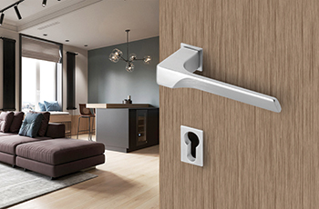 Manital's new rosette series sits flush both with the handle and the door.