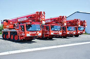 The new Demag all-terrain cranes.