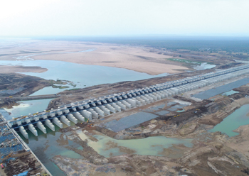 The Medigadda Barrage in Telangana ... built in a record-breaking 24 months.