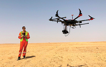 Terra Drone conducting drone surveys in Fujairah, UAE