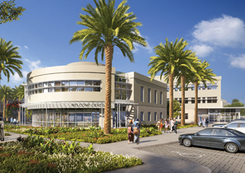 The American University of Bahrain campus in Riffa covers an area of 73,560 sq m.