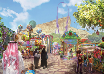 Twilight Gardens at Six Flags Qiddiya ... specially designed for younger visitors and their families.