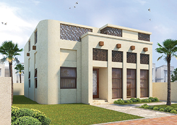 A concept of the 3D printed house at Sharjah's SRTI Park.