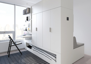 The Rognan robotic furniture ... flexible and innovative solutions for small homes.