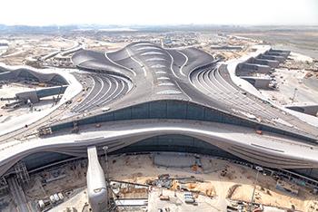 The Midfield Terminal Complex (MTC) ... full operational trials in progress.