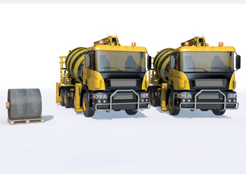 One pallet of CC equates to two 17-tonne ready-mix concrete trucks.