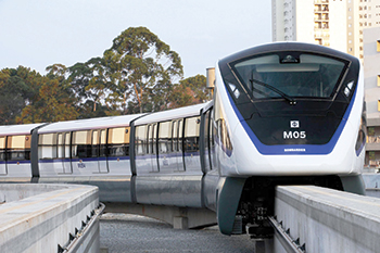 Bombardier will supply 70 four-car Innovia Monorail 300 trains for the two lines.