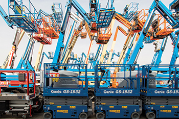 The GS-1932 scissor lifts ... Byrne offers a wide range in this category.