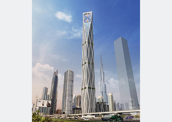 SRG Tower ... the facade design and the structural design are integrated.