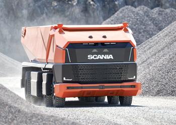 Scania AXL ... a fully autonomous concept truck, without a cab.