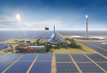 Al Maktoum Solar Park ... Phase Four will include the world's tallest solar tower and the world's largest global thermal storage capacity.