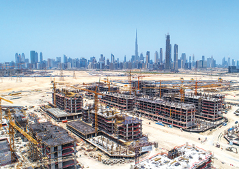 Azizi Developments' project at Meydan ... well under way.