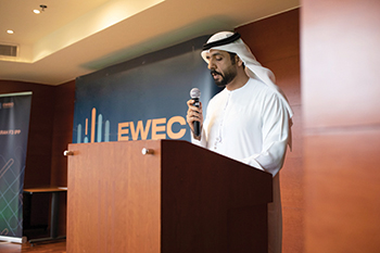 Engineer Adel Al Saeedi,  senior executive of Ewec, at the bid opening for the Fujairah F3 project.