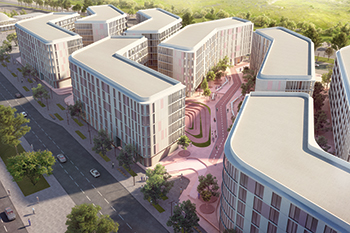 The Nest ... a student housing complex launched in March.