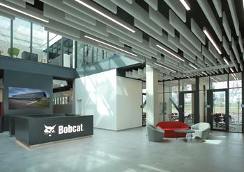 Doosan Bobcat's new headquarters for the EMEA region in the Czech Republic.