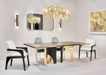 Utopia table paired with the Arches chairs.