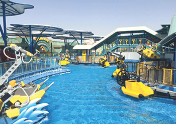 Legoland Dubai and Legoland  Water Park provide over 40 interactive rides and water slides.