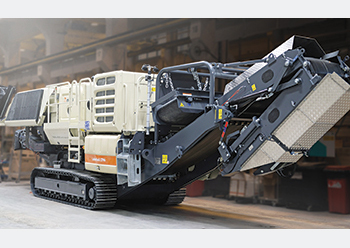 An LT96 ... the Lokotrack Urban series can do crushing jobs in urban regions.