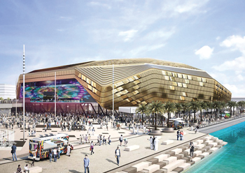 Yas Bay Arena ... 75 per cent complete.