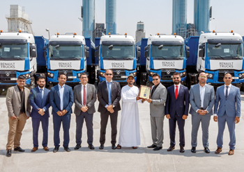 Middle East Ready Mix Concrete takes delivery of 12 Renault Trucks K models.