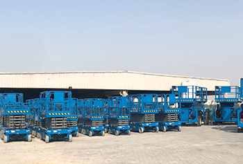 Terex's distribution centre in Dubai ... mainly dedicated to its Genie brand.