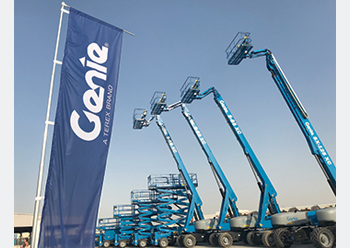 The new distribution centre will hold a wide selection of Genie boom and scissor lifts.