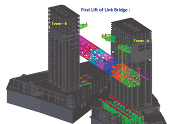 Computer models of the project showing the raised cantilever.