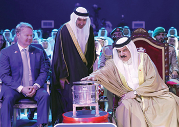 King Hamad inaugurates Alba's Line 6 Expansion Project.