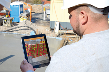 Formwork plans from PPL 12.0 can be presented as a 3D model using the app even on the construction site.