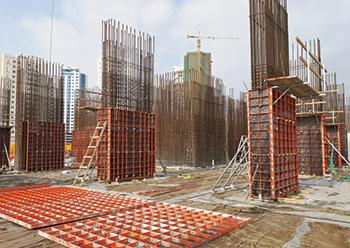 Paschal formwork in use at Burj Kadi tower project in Juffair.