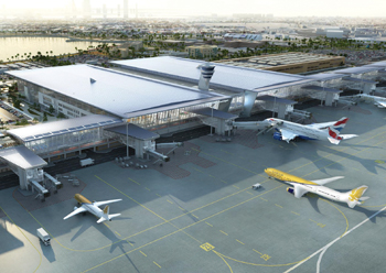 The new terminal at Bahrain International Airport is set to open in March.