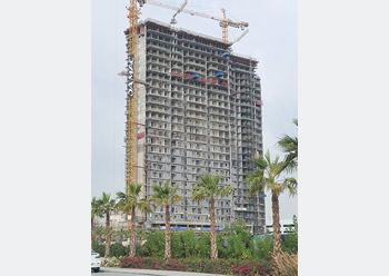 Golf Vita at Damac Hills ... topped out.