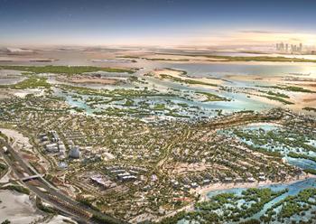 Masterplan of Jubail Island.