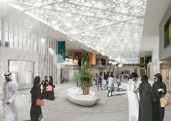 The new exhibition and convention centre ... work has just been launched on the project.