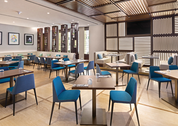 Nulty has brought each of the different areas of the hotel to life by using layers of light and illuminated surfaces to create an atmosphere rich in intimacy and mood.