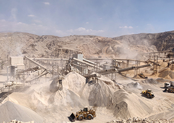 The Terex MPS 1200TPH plant at work in Ras Al Khaimah.