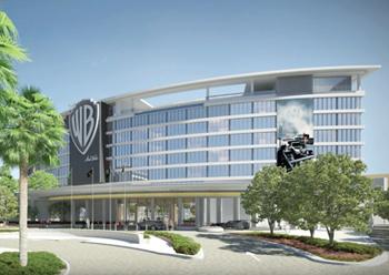Warner Bros hotel ... taking shape on Yas Island, Abu Dhabi.