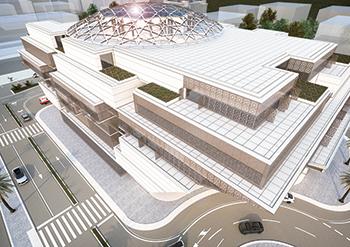 Oman International Hospital ... taking shape in the heart of Muscat.