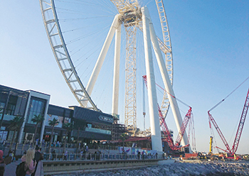The world's tallest observation wheel ... located on Bluewaters.
