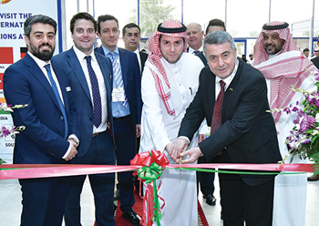Officials cut the ribbon to mark the opening of The Big 5 Saudi last year.