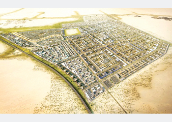 Khazaen Economic City ... basic infrastructure work in progress.