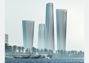 Lusail Plaza towers ... a key contract for Hyundai E&C.