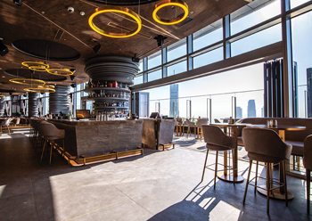 Ce La Vi is designed to be a vibrant, electrifying indoor-outdoor rooftop bar.