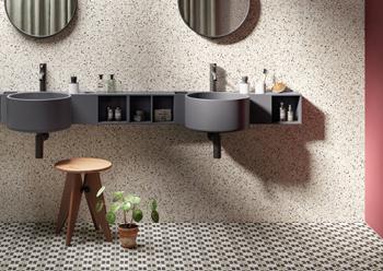 Frammenti ... terrazzo-effect tiles.
