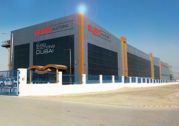 EuroAuctions premises in Jebel Ali, Dubai.