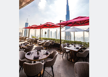 Ce La Vi in Dubai ... located on the 54th floor of the Skyviews Address hotel.