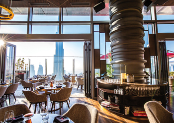 Ce La Vi ... offering an unobstructed view of Downtown Dubai and Burj Khalifa.