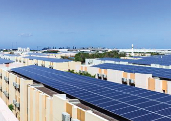 The DP World solar installation ... spanning 110 mid-rise buildings.