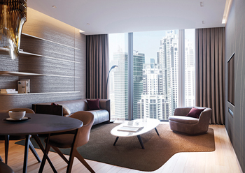A living room at the ME Dubai.