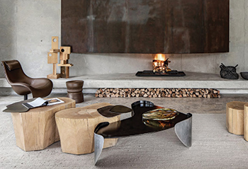 The Laguna coffee table mimics a body of still water.